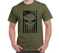 Amerikaanse Sniper Chris Kyle Mannen T-shirt Punisher Schedel Navy Seal Team Legend Gedrukt Mode Top Tee Zomer Casual Tshirt S-3XL