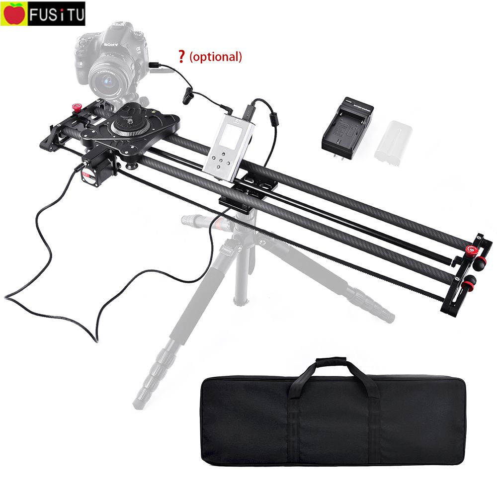 Fusitu Carbon Fiber Camera Track Slider Dolly Video Stabilizer Rail with Remote Control Speed for DSLR Camera DV Video Camcorder