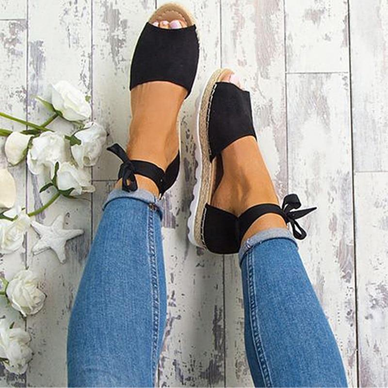 Plus Size 34-43 Flats Sandals Summer Women Sandals Fashion Casual Shoes For Woman European Rome Style Sandale Femme 003 women wedges sandals plus size 36 42 woman summer shoes 2018 new fashion casual shoes for woman european gladiator sandals