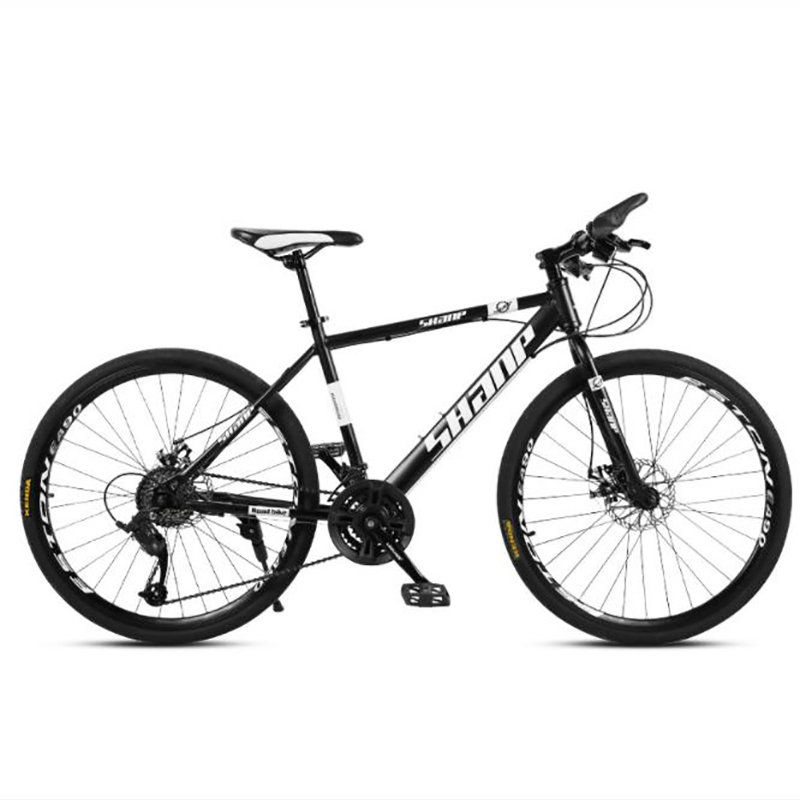 Adult Mountain Bike 26 Inch 21 Speed Double Disc Brake High Carbon Steel Frame Cross-country Bicycle For Male And Female Student