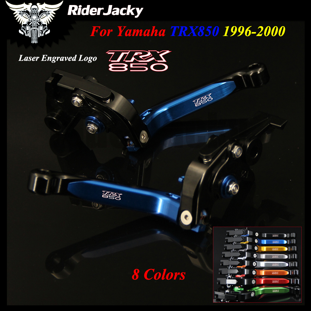 For Yamaha TRX 850 TRX850 1996 1997 1998 1999 Blue+Black Motorcycle Accessories CNC Adjustable Brake Clutch Lever With Logo kingsun rear adjustable ball joint camber control suspension arm kit for 1990 1997 honda accord acura cl tl1996 1999 blue