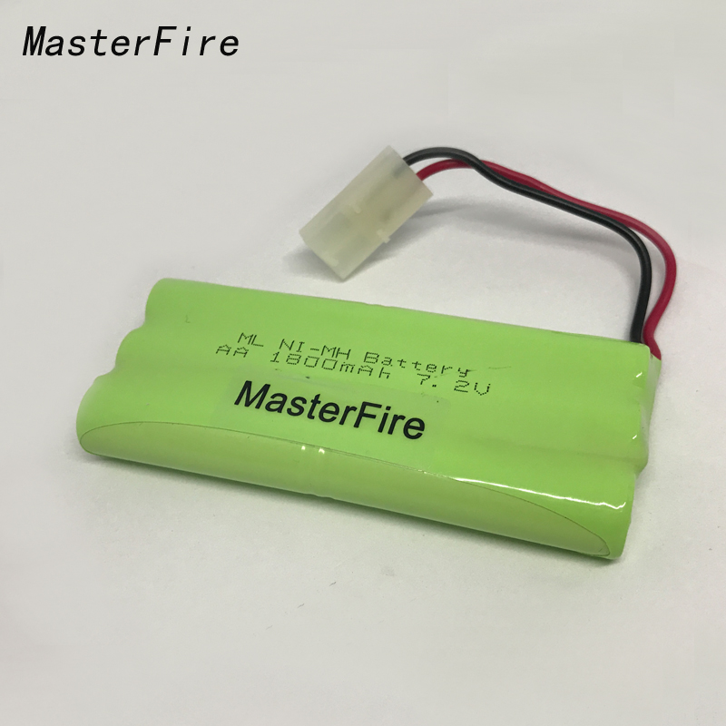 MasterFire 3PACK/LOT New 7.2V AA 1800mAh Ni-MH Battery NiMH Rechargeable Batteries Pack With Plugs Free Shipping