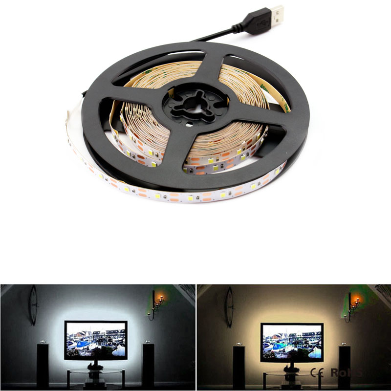 DC 5V RGB LED Strip Light Not Waterproof Smd 2835 1-5m 5V Led Tape Lamp Diode Ribbon Flexible Lcd TV Backlight Living Room