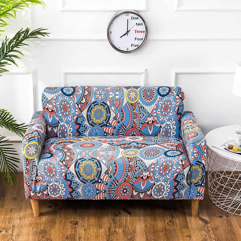 Modern Style Sofa Cover Spandex Elastic Polyester Print