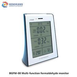 Формальдегид, TVOC, комбинированный детектор газа поставляется с цифровым дисплеем температуры и влажности и функциями сигнализации