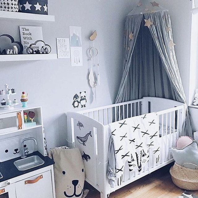 Baby Children Princess Bed Canopy Bedcover Mosquito Baby Bed Round Net Tent Curtain Kids Room Decor Photography Props & Baby Children Princess Bed Canopy Bedcover Mosquito Baby Bed Round ...