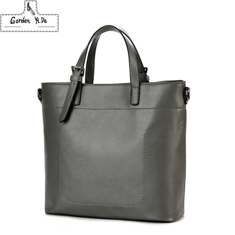 Genuine Leather Tote Bag 2018 Women Large Capacity Handbags Ladies Vintage Shoulder Bags Mochila Sac a main femme de marque new women genuine leather handbags shoulder bag oil wax cow leather tote bags female vintage handbags sac a main ladies hand bag