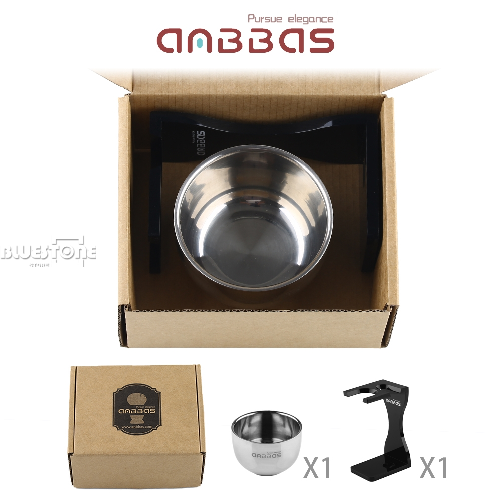 Unique Design Acrylic Shaving Stand & Stainless Steel Shave Brush Bowl by Anbbas 1