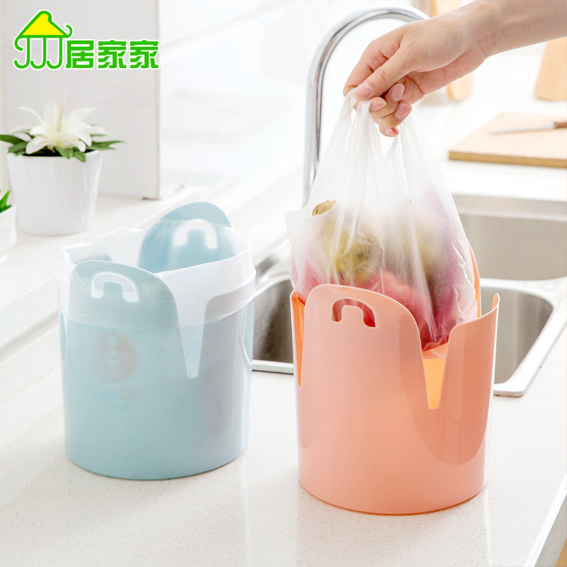 Desktop Trash Creative Home Kitchen Living Room Bathroom Trash Without Cover Small Plastic Waste