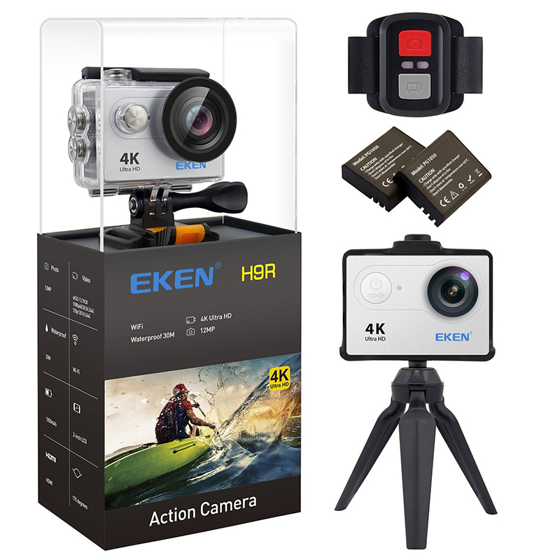 Action camera Original EKEN H9 / H9R remote Ultra FHD 4K WiFi 1080P 60fps 2.0 LCD 170D sport waterproof pro camera go deportiva battery dual charger bag action camera eken h9 h9r 4k ultra hd sports cam 1080p 60fps 4 k 170d pro waterproof go remote camera