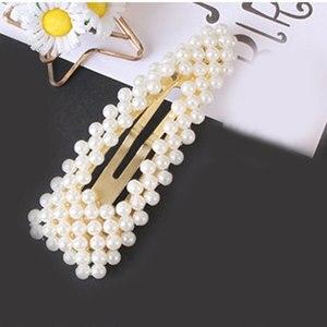 Fashion Pearl Hair Clip for Women Elegant Chinese Korean Design Barrette Stick Hairpin Hair Styling Accessories Beads Hair Clip