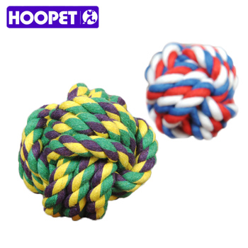 6CM Pet Dog Toy Cotton Rope Ball Bite Resistance Ball Toy Colorful Rope Braided Dog Treat Ball Puppy Chew Toy Cleaning Tooth