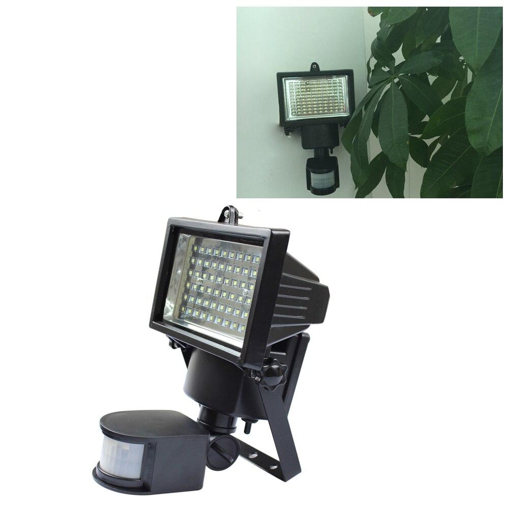 100LED Solar Light Outdoor Powered Wireless PIR Motion Sensor Security LED Solar Lamp Light Garden Landscape Yard Lawn Wall Lamp