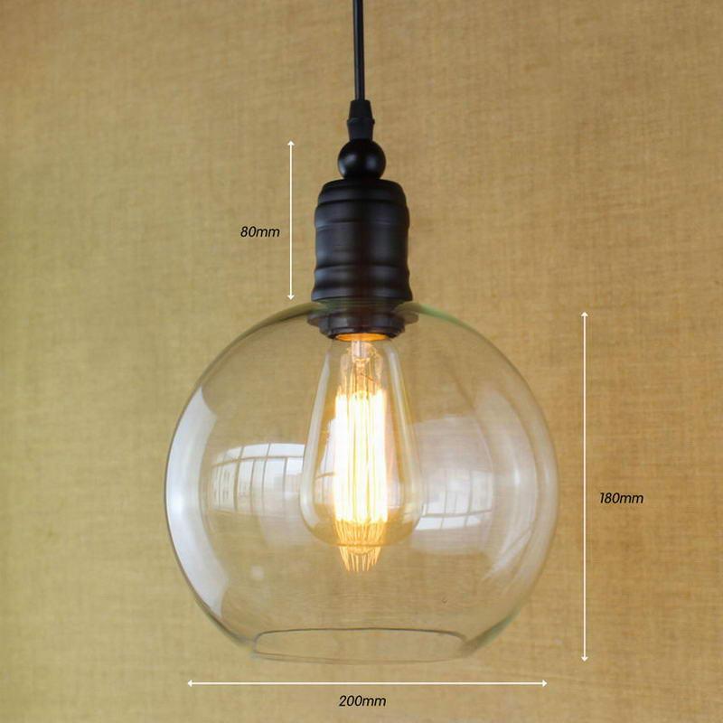 Lampes suspendues européennes vintage en verre blanc avec suspension en verre avec ampoule Edison lampes de cuisine - 4