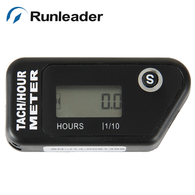 Digital Tachometer Resettable Tachometer RPM hour meter RL-HM016R  for gasoline engine water pumps brush cutter outboard tractor