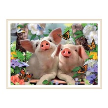 5D DIY diamond painting all-round / round pig embroidery cross stitch gift home decoration
