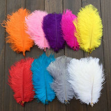 Free shipping /100 pcs 6-8inch 15-20cm Choose Colors Beautiful Ostrich Plume DIY Carft Wedding Party Centerpieces Natural