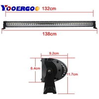 52inch 240W LED Light Bar Single Row White UTE 4WD ATV Truck for Jeep