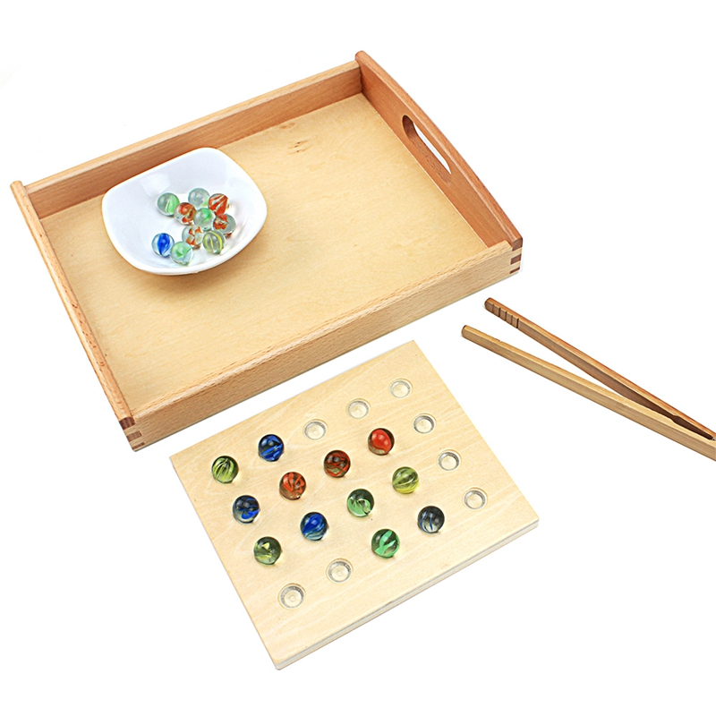 Toddlers Montessori Egg Clip Marbles Game Daily Basical Practical Teaching Aids Early Educational Fine Cultivation Toys 3 Years