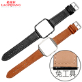 Laopijiang Fitbit blaze correa Fitbit inteligente relojes de cuero correa de metal shell