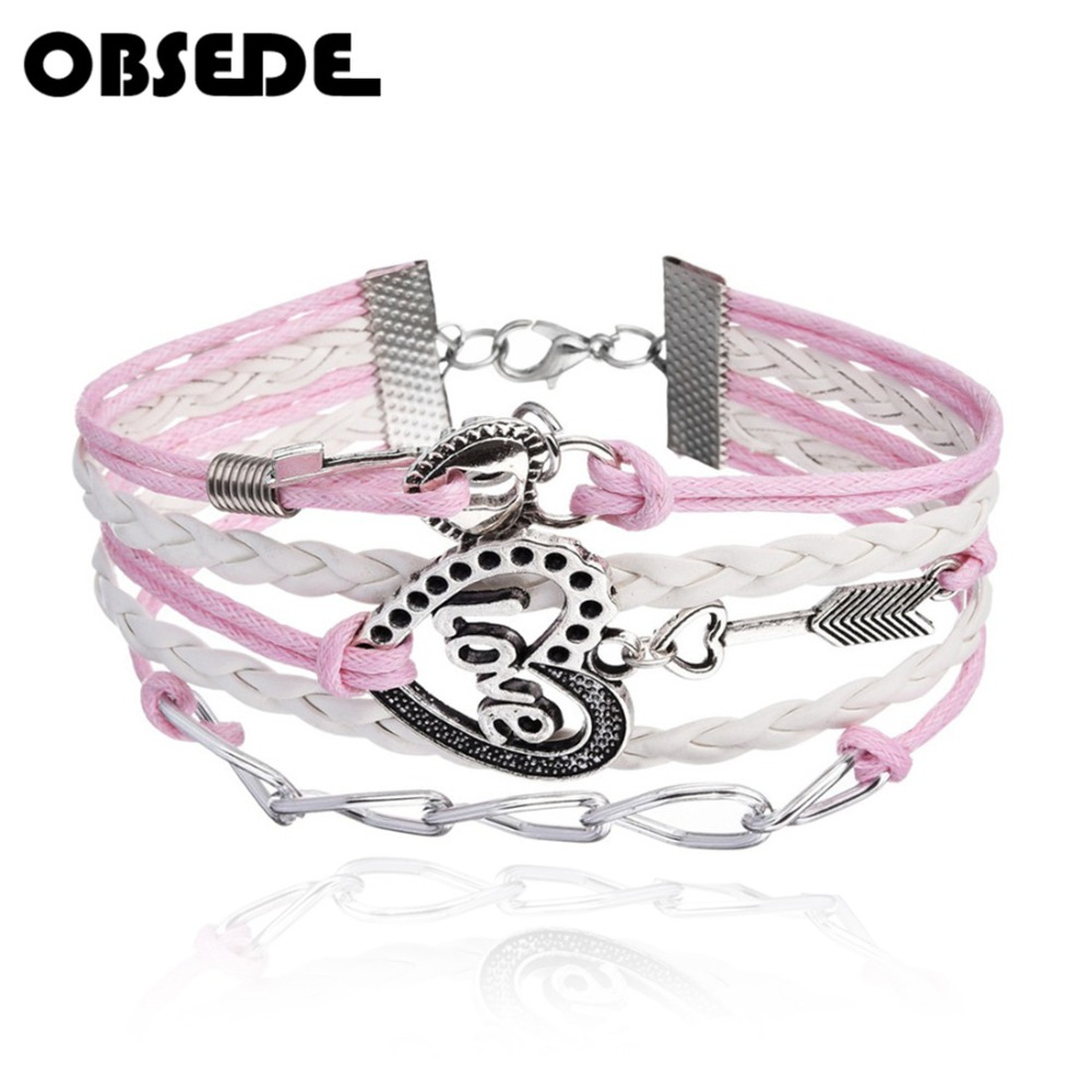 BULK 20 Pink leather bracelets 24cm x 3mm