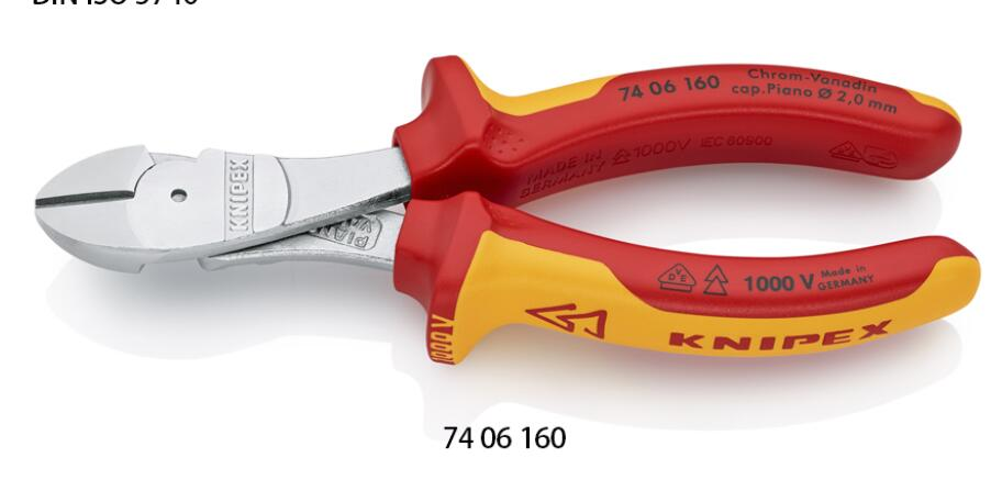 German KNIPEX KENIPACK 74 06 180 Labor-saving Insulated Diagonal Pliers 74 06 180