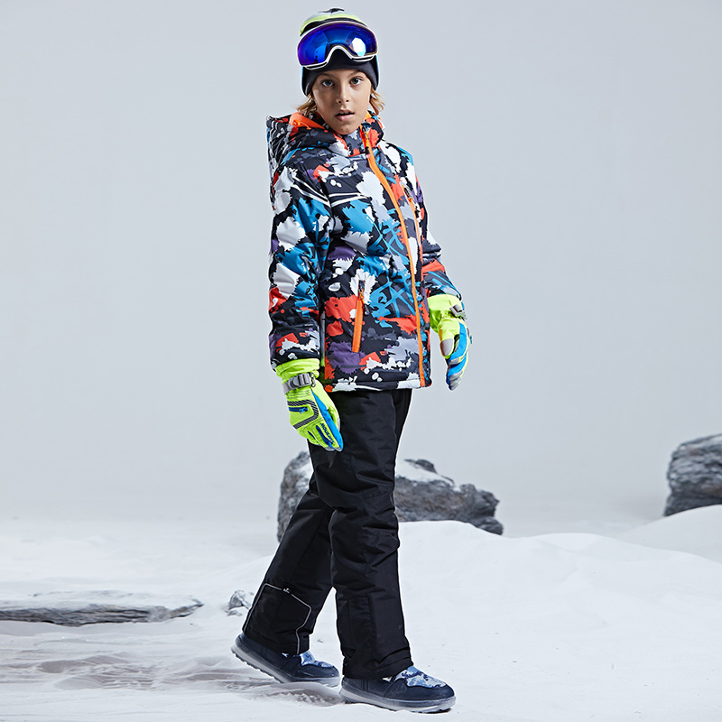 Image 2 - Warm Waterproof Child Ski Suit Heavyweight Boys Outfits Winter 