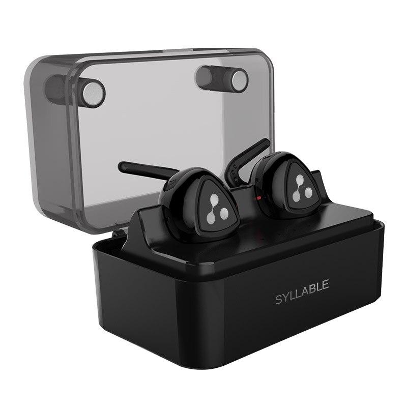 ФОТО 2017 New Gift Original Syllable Universal Stereo Bass Wireless Bluetooth Earphone Handsfree Mini Earbud with Mic for Phone