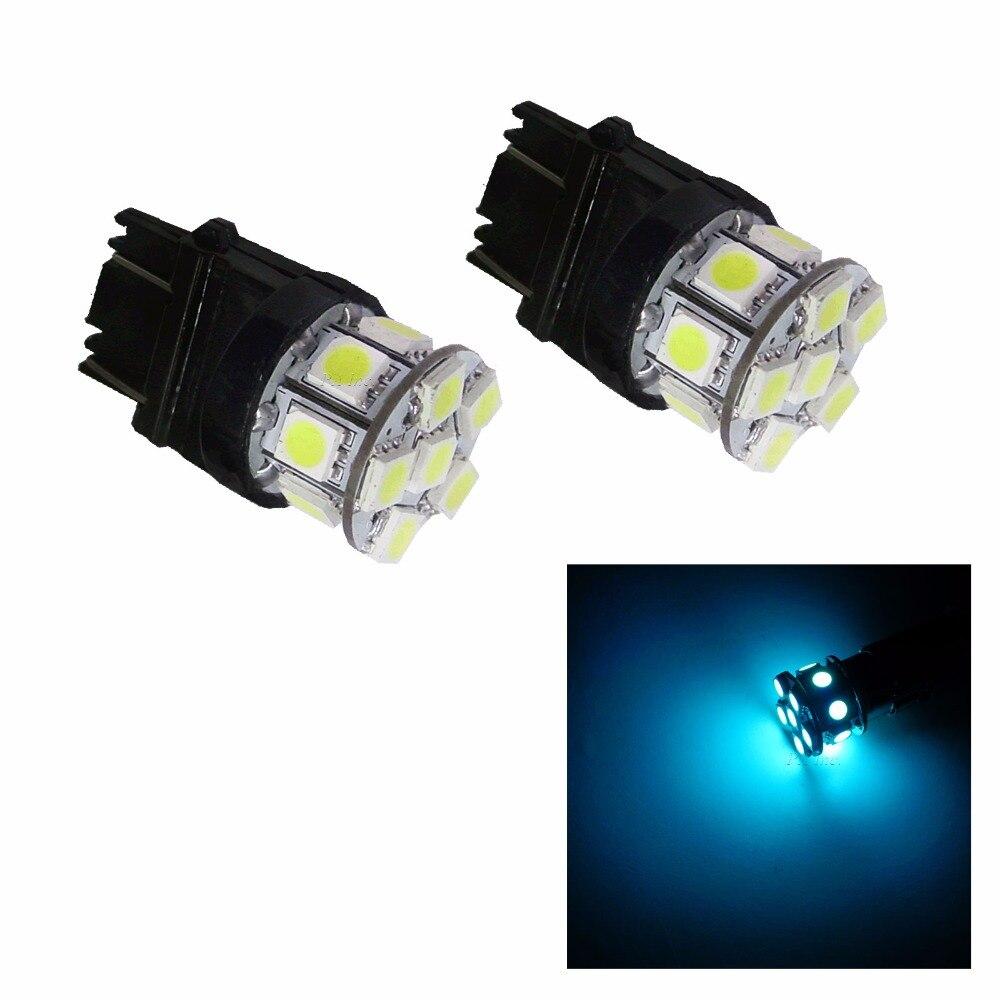 PA LED 10 pièces x 3157 13SMD 5050 glace bleu LED Auto arrière voiture haute monture frein lumière 12 V