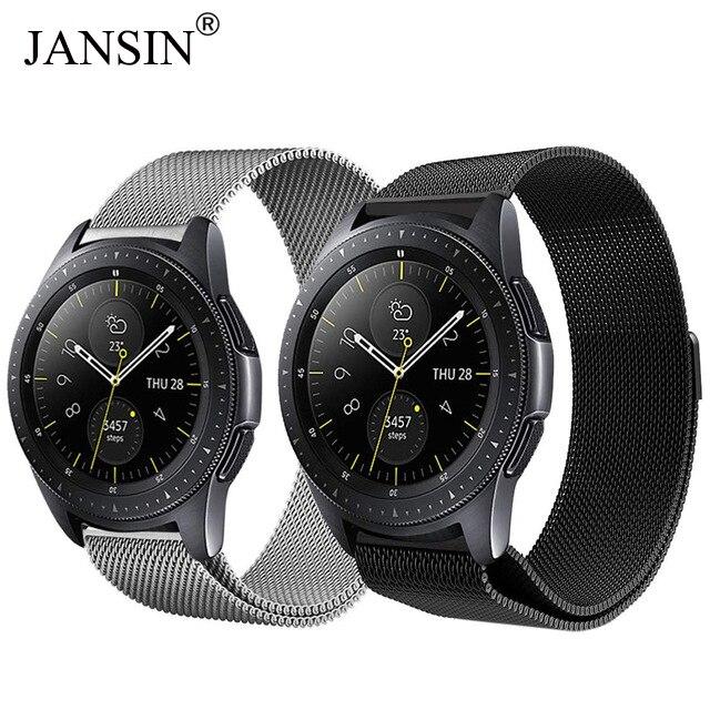 JANSIN Magnetic Adjustable Milanese Loop Strap For Samsung Galaxy 42mm 46mm Watchband 20mm 22mm Stainless Steel Metal Bracelet все цены