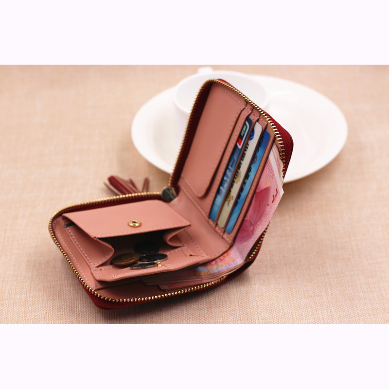 1d2ec5846930 Women Coin Purses Tassel Coin Bag Female Small Purse Leather Clutch Wallet  Mini Purse Pouch Card Holders Monederos Mujer Monedas-in Coin Purses from  Luggage ...