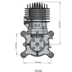 Image 5 - DLE30 RC Airplane Drone gasoline engine single cylinder two stroke side exhaust wind cooled hand start 30CC displacement