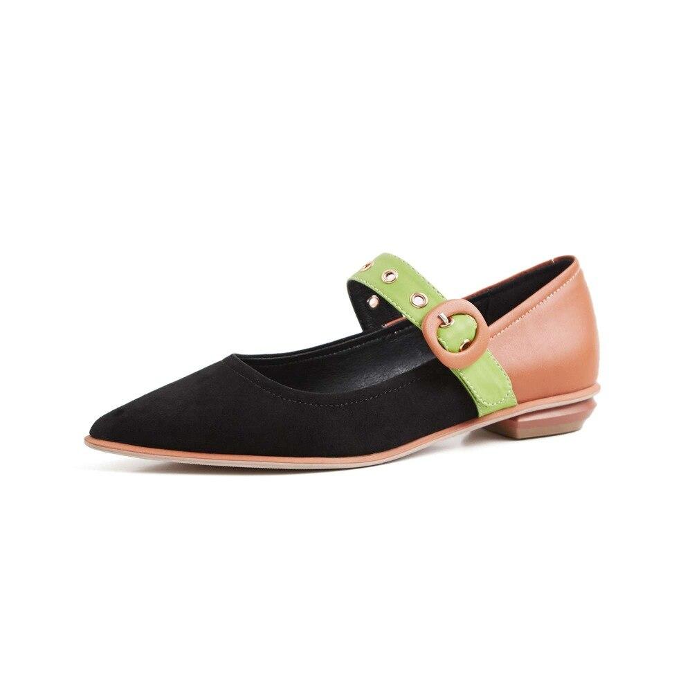Oxford Vintage Correa Bombas Olla Conciso Genuino Punta Fiesta Beige Mujer L01 De Estilo Negro Zapatos Krazing Marca Colores Mezclados Cuero Hebilla negro Y wd0864q4n7