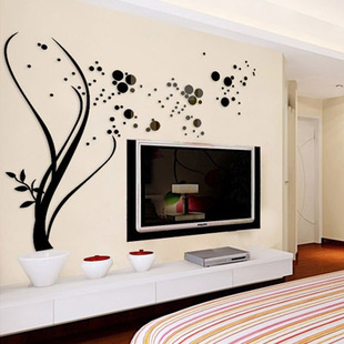 Starry accessories Acrylic crystal wall stickers TV background wall DIY art decoration Home waterproof wall stickers in Wall Stickers from Home Garden