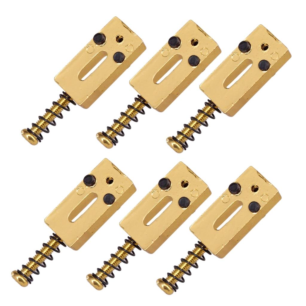 6 Pieces Roller Saddle Bridge String Saddles Stringed Instruments For for Electric Guitar Bridge