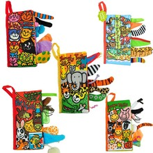 New Baby Toys Infant Kids Early Development Cloth Books Learning Education Unfolding Activity Books Animal Tails Style DS29