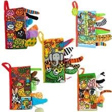 Nieuw Baby Speelgoed Zuigeling Kinderen Vroege Ontwikkeling Doek Boeken Leren Onderwijs Ontplooien Activiteit Boeken Dierenstaarten Stijl DS29