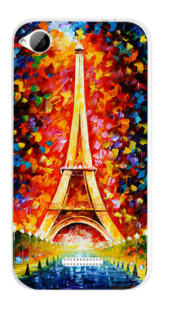 14 patterns colored case cover for desire 320 hard tiger lion cat rose eiffel towers PC painting case for htc desire 320
