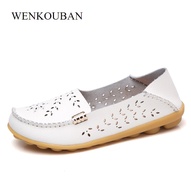 Leather Silver Shoes Women Ballet Flats Loafers Brogues Summer Slip On Moccasins Ladies Flat Shoes Ballerina Chaussures Femme odetina 2017 fashion summer ladies ballet flats shoes women loafers slip ons ballerina flat patent leather round toe big size 52