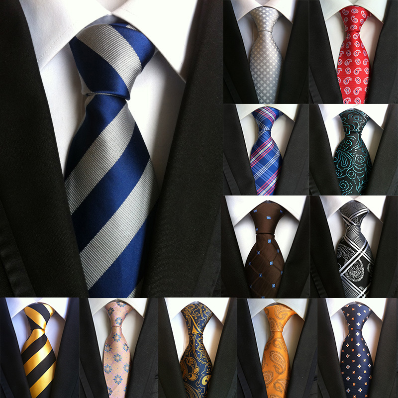 New 60 Styles Paisley Stripes Ties for Men