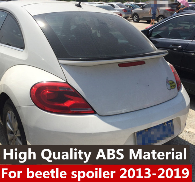 For Volkswagen Beetle Spoiler High Quality ABS Material Car Rear Wing Primer Color Rear Spoiler For  Beetle Spoiler 2012-2019For Volkswagen Beetle Spoiler High Quality ABS Material Car Rear Wing Primer Color Rear Spoiler For  Beetle Spoiler 2012-2019