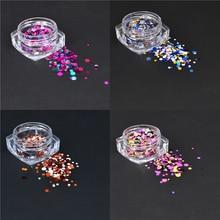 YZWLE 1g Nail Art Round Decorations New Mini Thin Mixed Colorful 1-3mm Designs Glitter Paillette Nail Art Tips Sticker