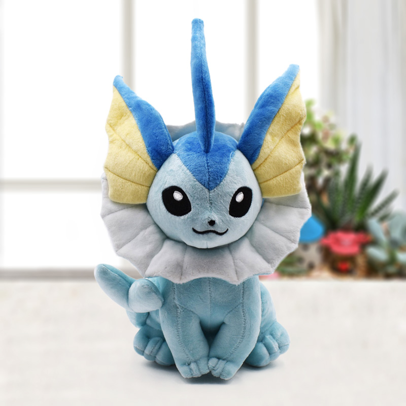2019 Cartoon Anime Vaporeon Eevee Peluche Toy 24cm Sitting Eevee Soft Stuffed Doll Classic Baby Plush Toys Christmas Gifts