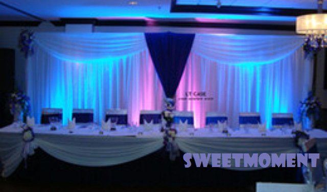 Party Curtain Backdrop With Swag And Stand