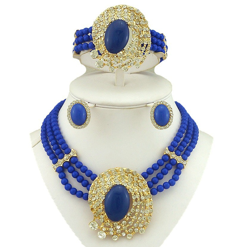 fashion jewelry set african beads jewelry set pearl necklace big jewelry wholesale price statement necklace