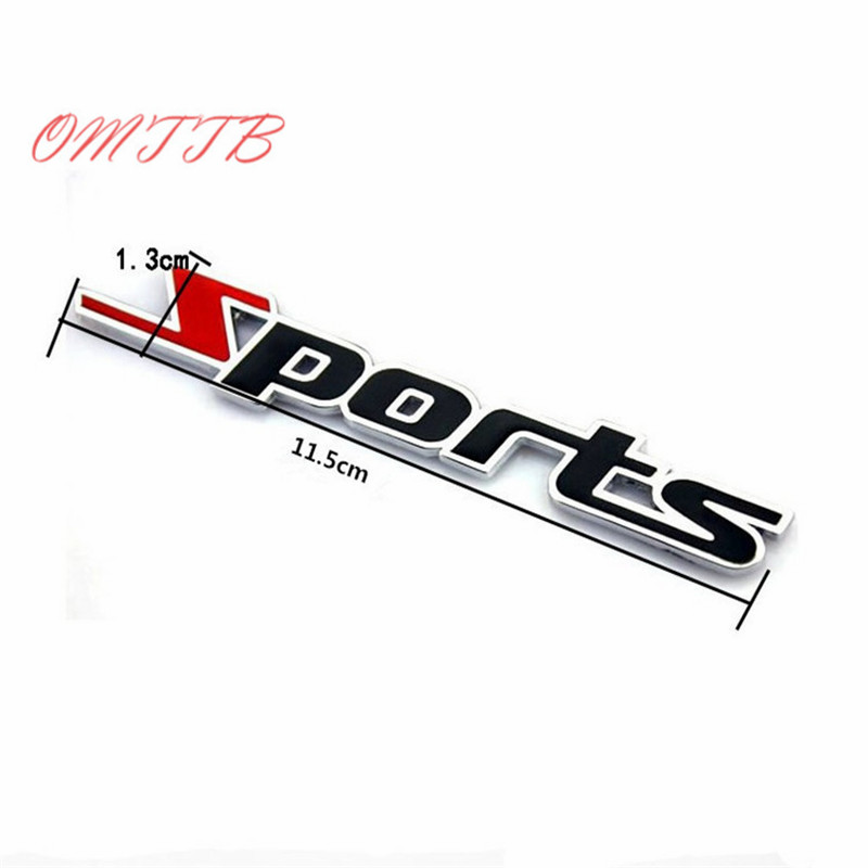3D Metal Car Stickers Sport Style Motorcycle Waterproof Racing car-covers For bmw ford benz audi toyota cruze focus car styling car styling racing sticker body waist car stickers door side scratches decorative decals for ford vw bmw toyota audi honda mazda