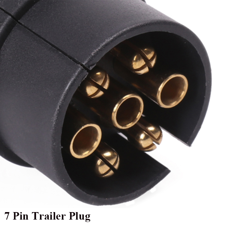 Image 5 - 12 v  7 Pin  way core pole Plastic Trailer Plug socket adapter connector European   RV Caravan car accessories camp auto parts-in Trailer Couplings & Accessories from Automobiles & Motorcycles
