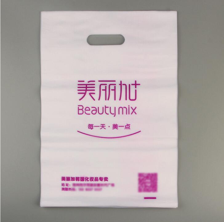 200pcs Design logo print tote plastic packing big handle bag /custom printed ldpe shoppi ...