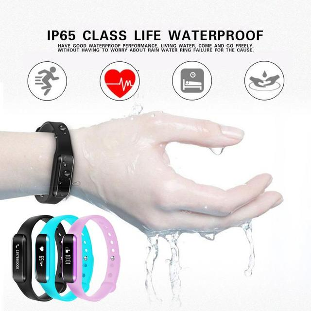 Bluetooth Smart Band Bracelet Remote Camera Cardiaco Heart rate Monitor Pulsometer Tracker Watch  For Spanish Russian French etc