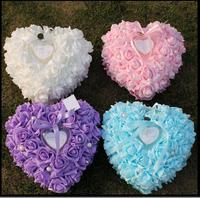 Wedding props of the new Korean heart ring pillow rose pearl ring box